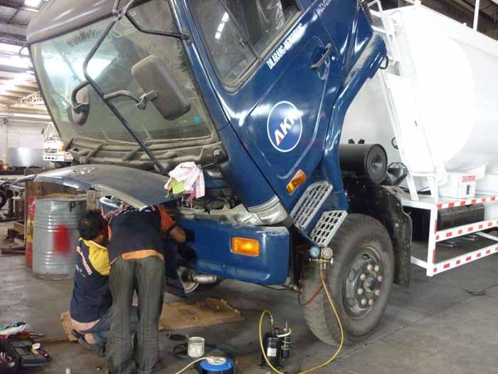 Instalasi AC Dump Truck